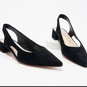 Sole Society Suede Sling-Back Pumps